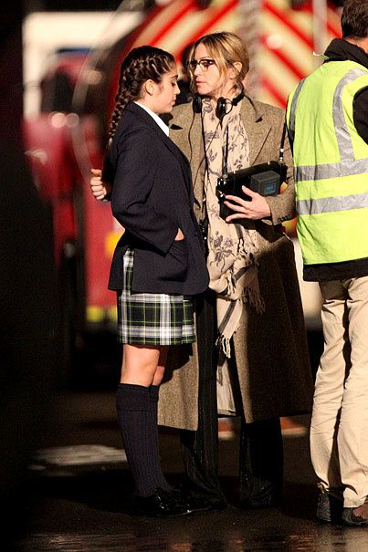 "Madonna and Lourdes on the set of ""W.E."" in London - August 31, 2010"