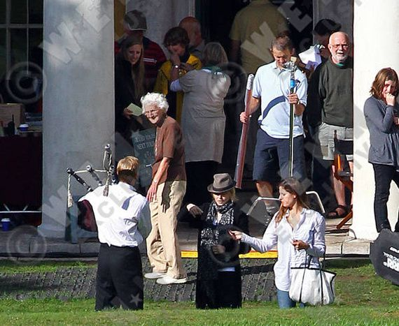 Madonna films ''W.E.'' at West Wycombe Park in Buckinghamshire, England - August 23, 2010