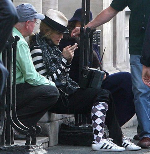 Madonna films ''W.E.'' in London - August 8, 2010