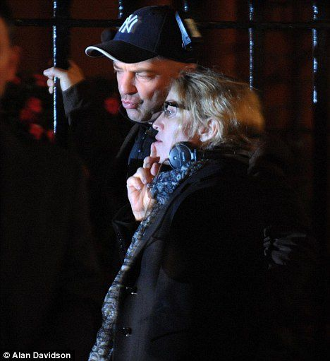 Madonna films ''W.E.'' in London - August 30, 2010