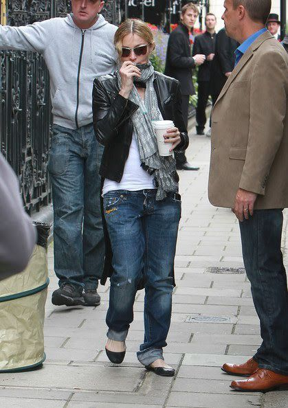 Madonna on the set of ''W.E.'' in London - August 29, 2010