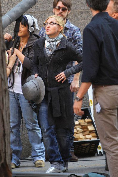 Madonna on the set of ''W.E.'' in NY - September 13, 2010