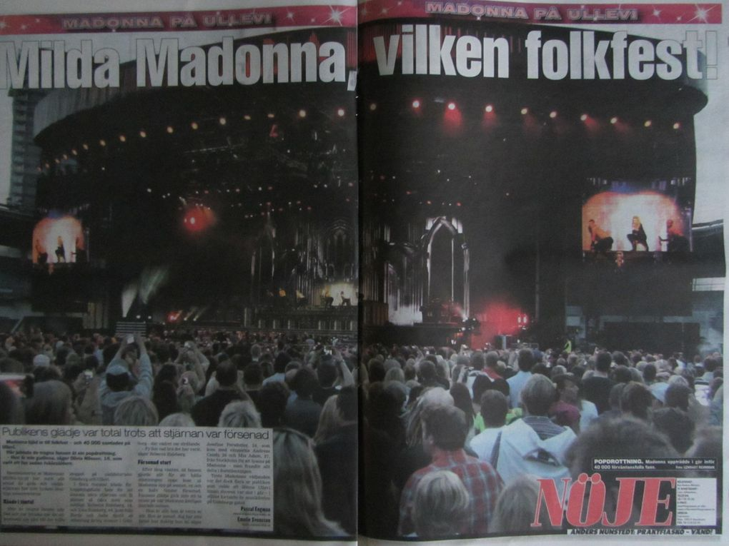 Photos by Ultimate Concert Experience. Swedish newspapers from July 04, 2012 and July 05, 2012 on the show at Ullevi Stadium in Gothenburg, Sweden - July 04, 2012.Special thanks to Dirk.