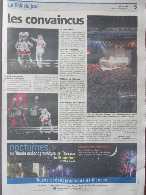 Photos by Ultimate Concert Experience from first row at Stade Charles Ehrmann in Nice, France - August 21, 2012.