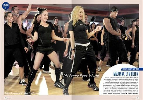 Madonna Hard Candy Fitness: Madonna launches Mexico Center - November 29, 2010