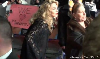 "Madonna at the gala premiere of her ""W.E."" movie at the Odeon Cinema Kensington in London on January 11, 2012."