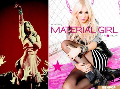 Madonna - Material Girl Fall Collection 2010 at Macy's - Taylor Momsen