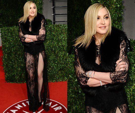 Madonna and Lourdes at Vanity Fair Oscar Party - February 27, 2011