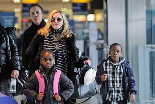 Madonna arrives in London - April 3, 2011