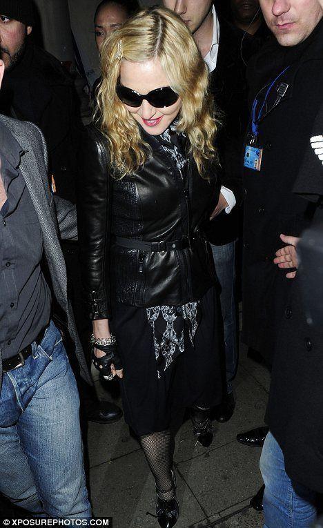 Madonna with Brahim Zaibat at Aura club in London - January 6, 2011