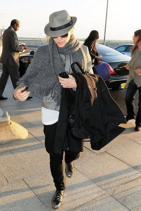 Madonna at Heathrow airport leaving London - April 16, 2011