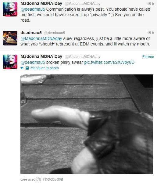 Album - Madonna MDNA Day on Twitter - March 26, 2012