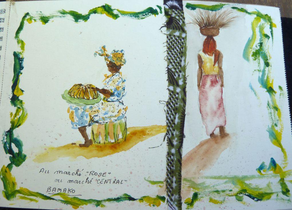 Françoise a emporté sa boîte d'aquarelles et a croqué tous les jours des scènes inoubliables en janvier 2010 et janvier 2012