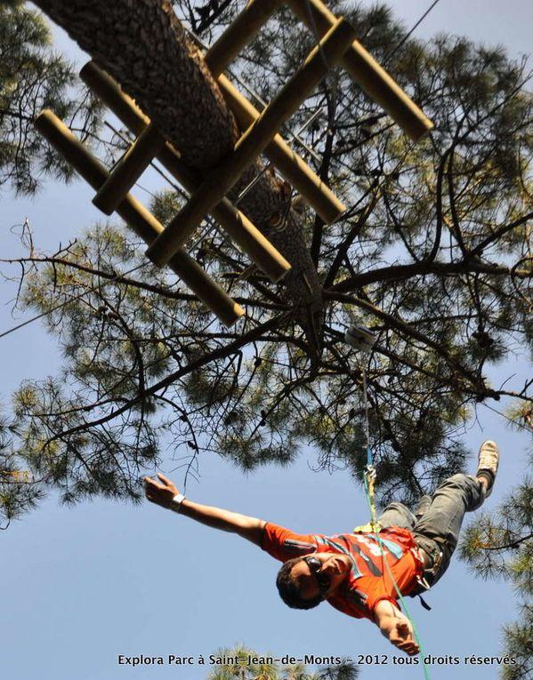Les nouveaux ateliers 2012 proposent un parcours filet, de nouveaux base jump et un mur d'escalade... enjoy !