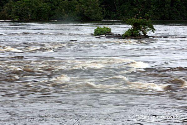 L'Oyapock, fleuve frontière entre le Brésil et la Guyane française.