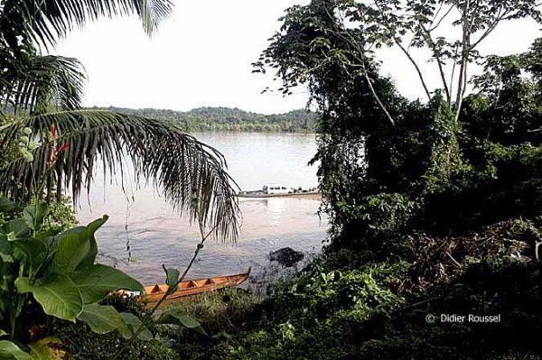 Le fleuve Maroni, à mon avis le plus prenant, le plus beau de Guyane. Frontière entre le Suriname et la Guyane française.