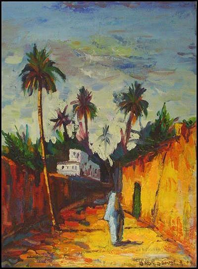 Dady est un jeune peintre plein de talents qui peint abec beaucoup d'amour sa ville : LAGHOUAT.