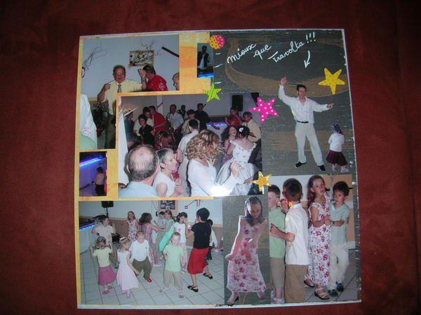 Voici l'album de mariage de ma soeur. J'ai mis environ 1 an 1/2 pour le faire (mais il y a eu beaucoup de break !!!!). Cet album m'a permis de trouver mon style qui a ce moment là était entre l'européen façon Toga et l'européen façon Azza