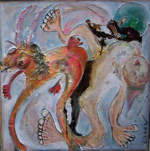 travail peinture sur mon enfance presentation au public de l'ensemble Maison de la tour  26 Valaurie du 12 septembre 2008 au 12 ooctobre 3008