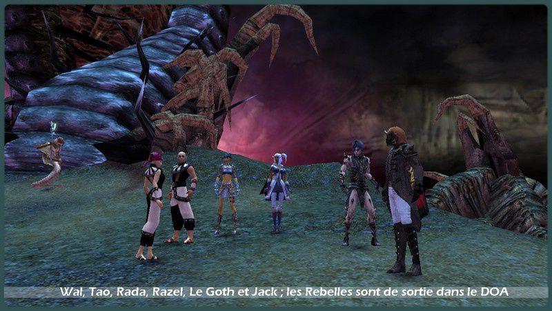 Les prises d'écran du jeu et de mon personnage, Razel Dorcania.