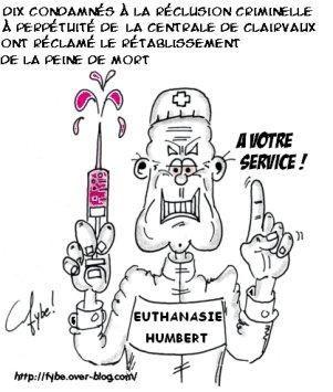Album de caricatures sur l'euthanasie.