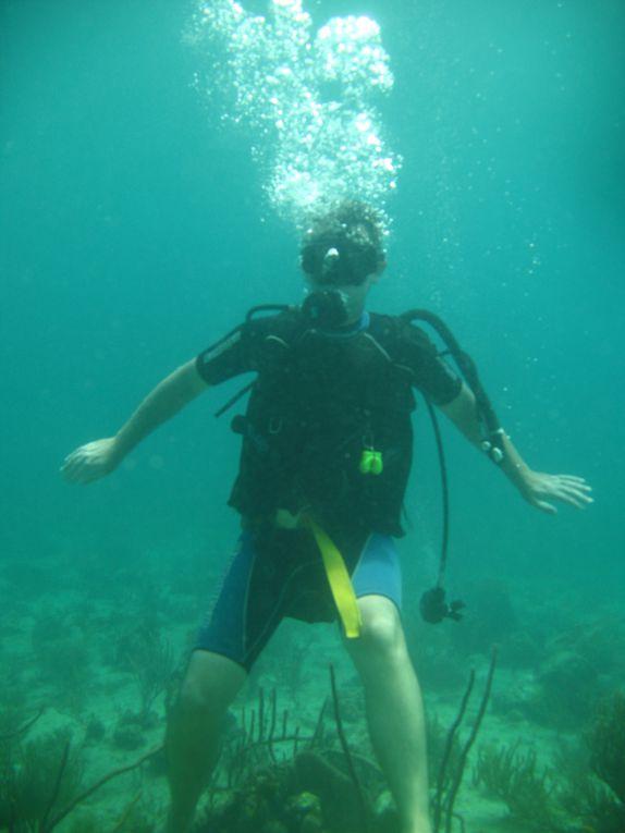 baptême de plongée dans le grand cul de sac marin