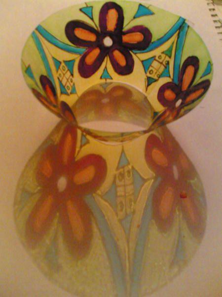 peinture acrylique, portraits, loupiotes, dessous de verre...