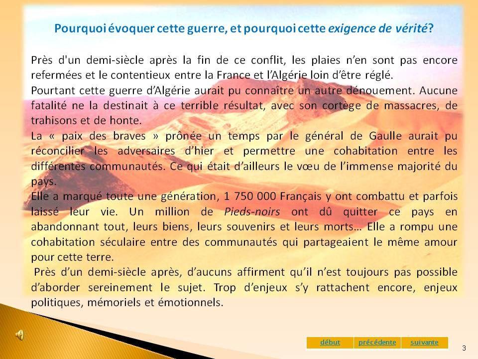 """Présentation de l'expostion sur : La guerre d'Algérie """"une exigence de vérité"""". Montbonnot septembre 2009"""