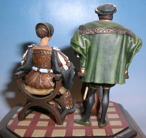 Figurines de collection en métal montées et peintes à la main