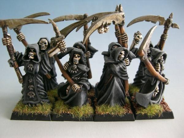 Nagash, seigneur vampire, charognards, spectres, momies et squelettes
