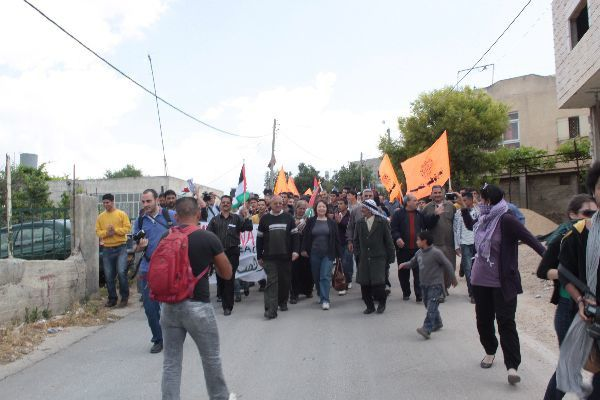 Demo after International conference for Peace in April 2010