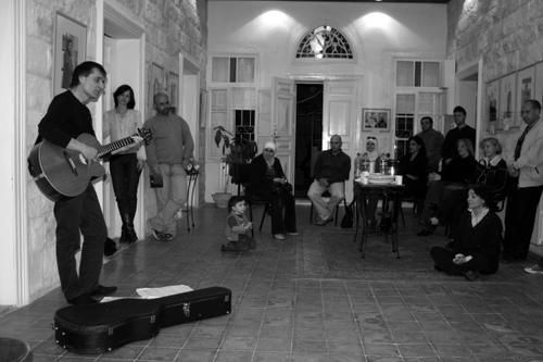 "In and from the French Cultural Center, after the vernissage ""Palestinian Women"" in 2008 for the international women's day"