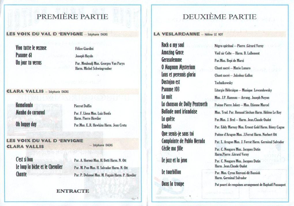 28/29 mars 2009plus de 300 choristes rassemblés à LencloîtreOrganisation chorales Lencloître et Scrobé