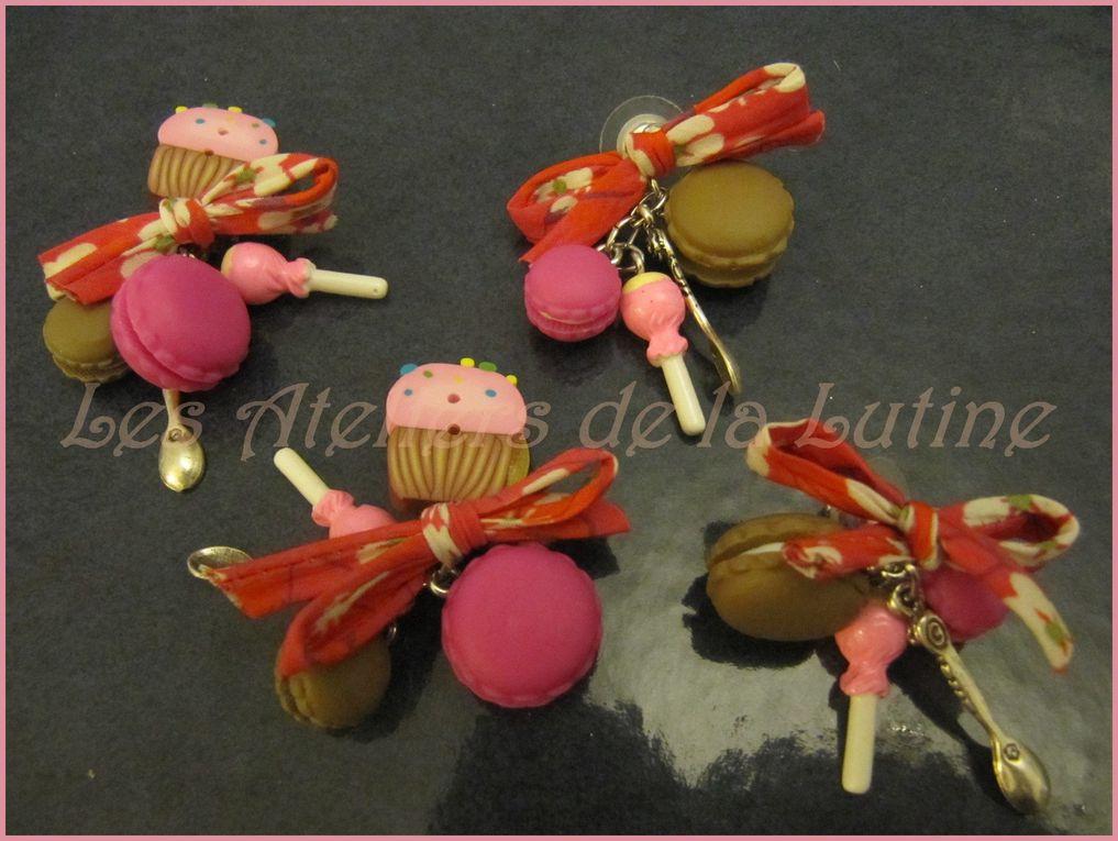 Tous sont uniques, puisque tirés de mon humeur du moment, des idées du jour et du matériel sous ma main! Perles, rocailles, laine feutrée, rubans, fleurs, coquillages, boutons et autres pampilles... tout se transforme en bijoux!!