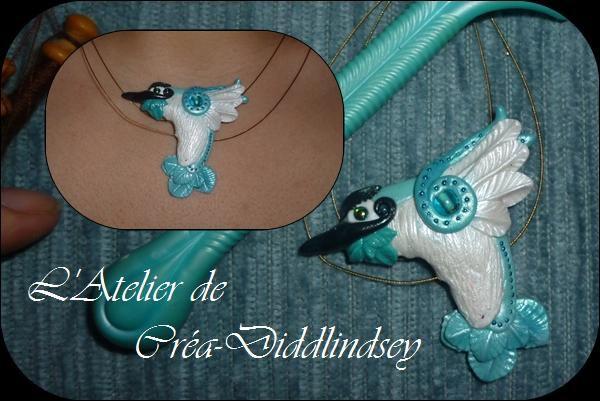 tuto de la création d'un colibri en pate polymere cernit