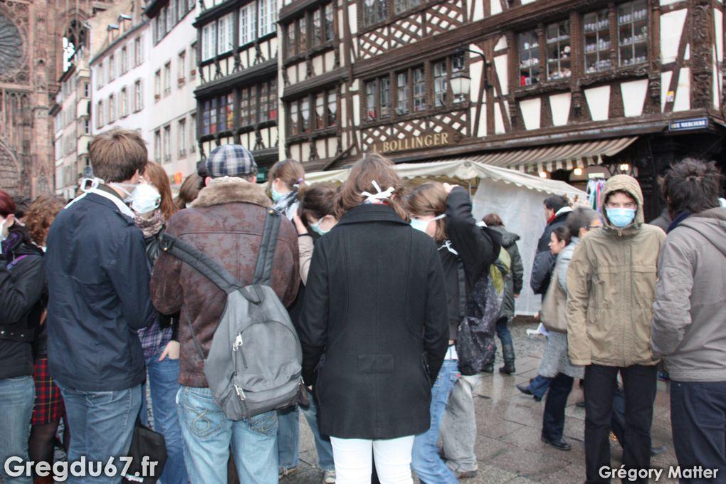 Le 17 octobre 2009, à 16H30, j'ai donné rendez-vous à une cinquantaine de personnes pour un rassemblement éclair.Nous devions montrer la panique de la Grippe, transmise par les médias.50 personnes coururent et crièrent dans les rues de St