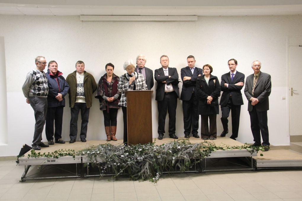 Cérémonie des voeux de Chantal Hochet, Maire, le 14 janvier 2012.