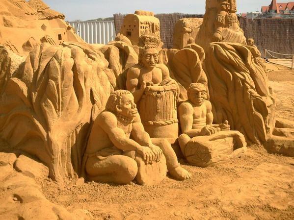 sculptures sur sable le Touquet 2008