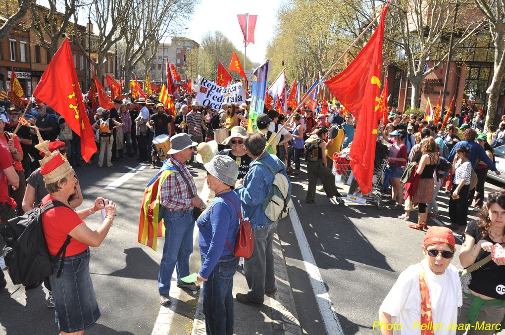 Tolosa ( Toulouse ) Manifestation occitane mars 2012. Photos Pellet Jean-Marc