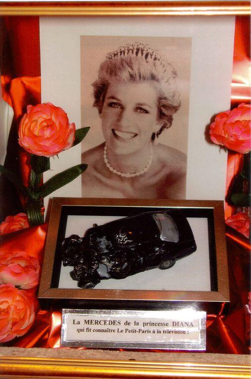 Surprenant ! En 1997, c'est grâce au tragique accident de la princesse Diana à Paris que Le Petit-Paris est devenu célèbre dans la presse people...La raison, les visiteurs harcelaient Gérard Brion pour voir la Mercédès sous Pont de l'Alma !