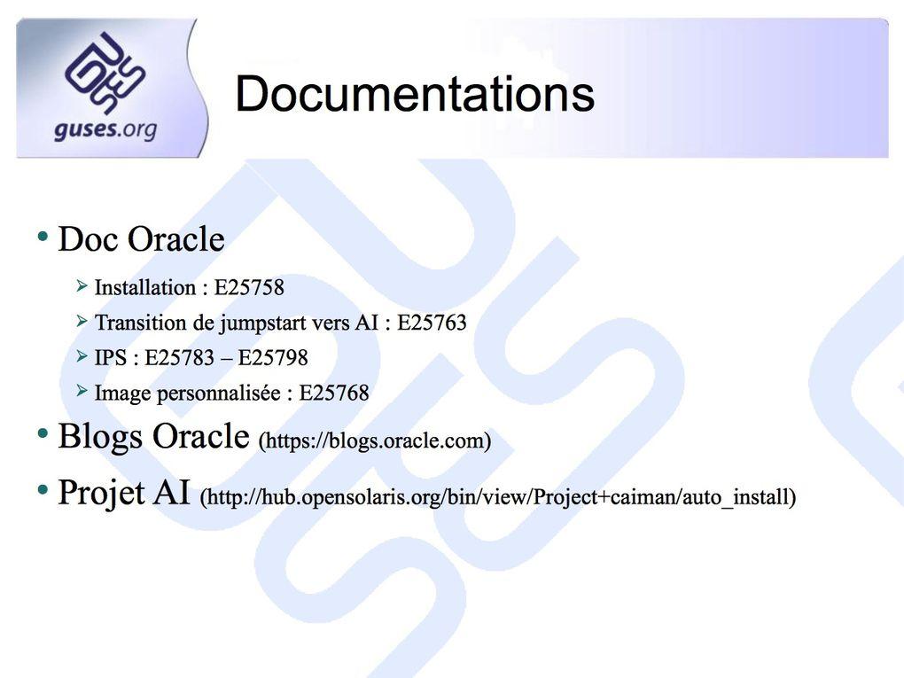 Présentation effectuée lors du TechDay Solaris 11 du 28 juin 2012.Retour sur la mise en place d'Automated Installer pour le déploiement des clients Solaris 11.