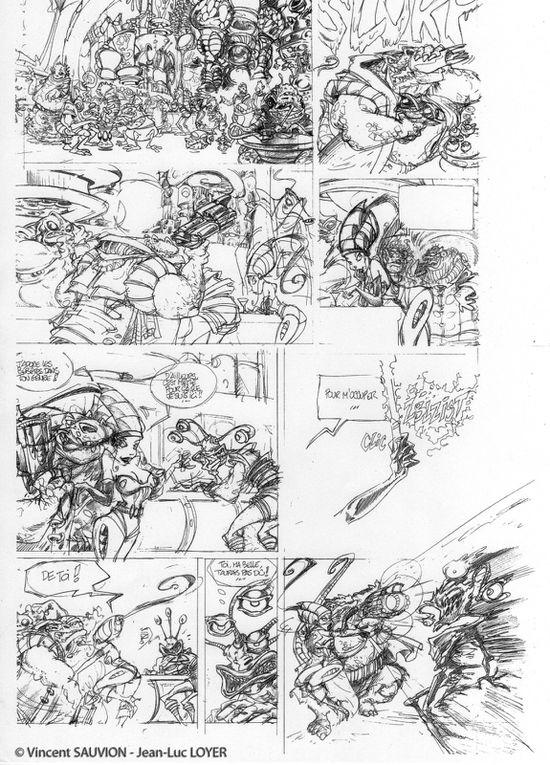 Fin 2004, alors que Mordichaï est publié, je propose à Jean-Luc (Loyer) d'écrire un scénario de Science-Fiction avec une héroïne sexy, en référence aux films américains de série B des années 50. Clara Bell fut donc créée !...