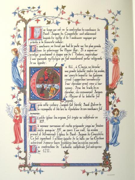 Mon premier livre enluminé et calligraphié aux  Editions Larroque.