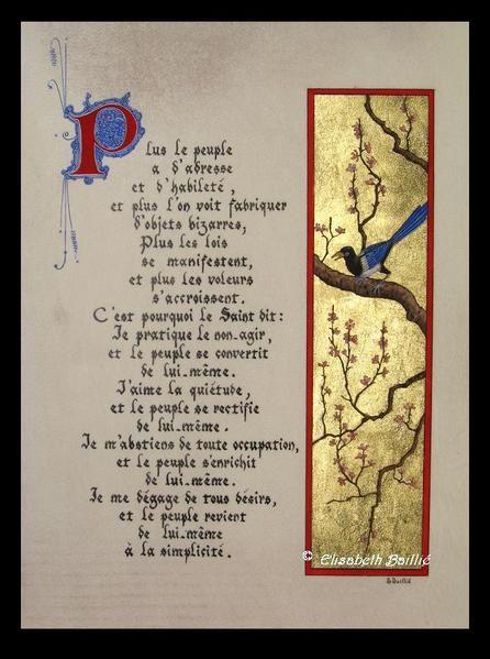 Mon deuxième livre enluminé et calligraphié paru aux éditions Larroque en mars 2009.