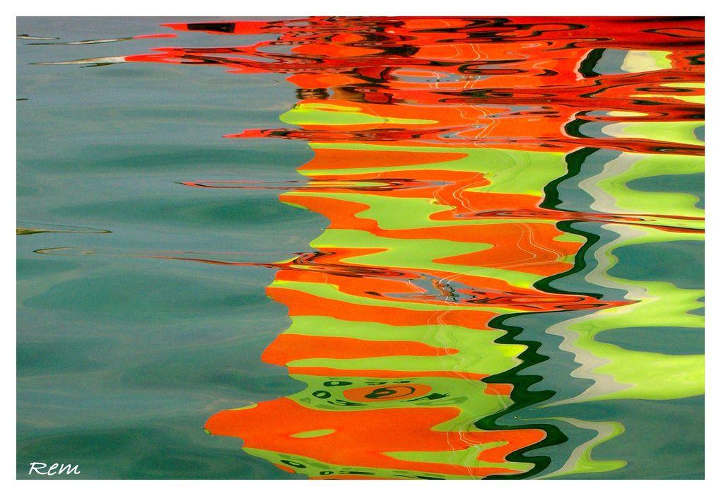 Les reflets de mes jours, dans les ports, dans la campagne, changeants et ennivrants....