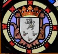 Blasons des deux rosaces : Jeanne d'Arc et Lamoricière