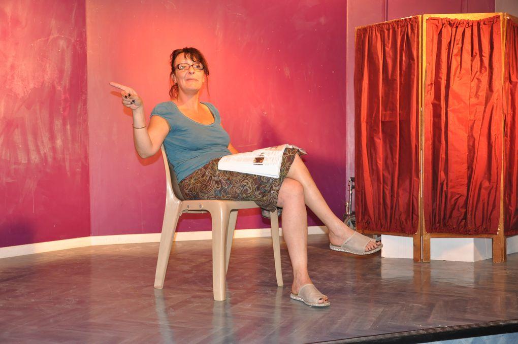 répétitions du 4ème one woman show.textes de Mireille MAIDON, mise en scène de Rémy AUBERT.
