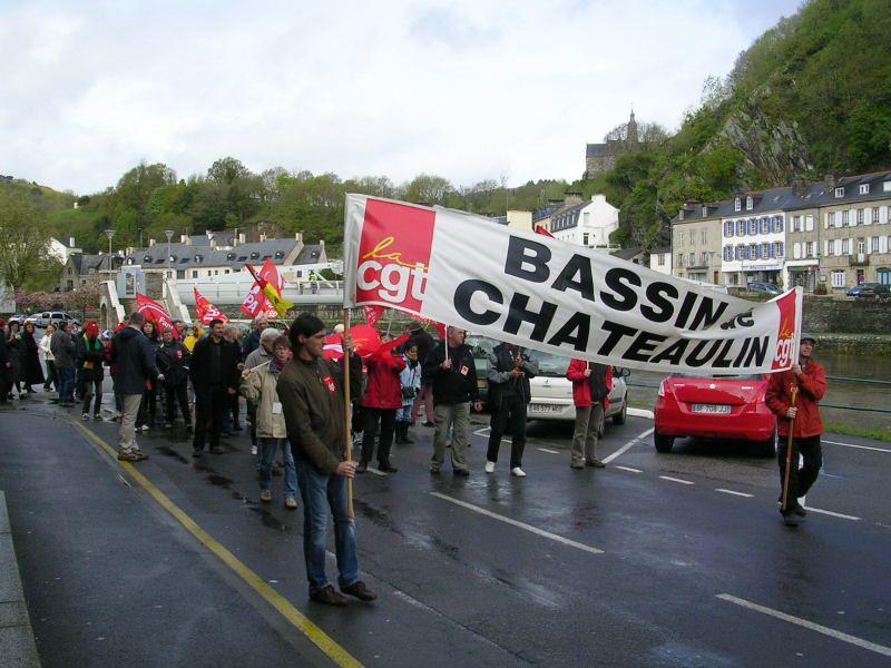Photos mobilisation UNITAIRE 1er mai 2012 à Chateaulin