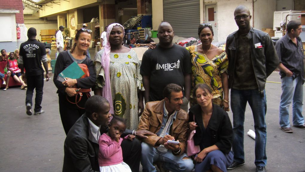 ruptûre du jeûne du ramadan le 29/08/09, avec les sans-papiers de la rue Baudelique.