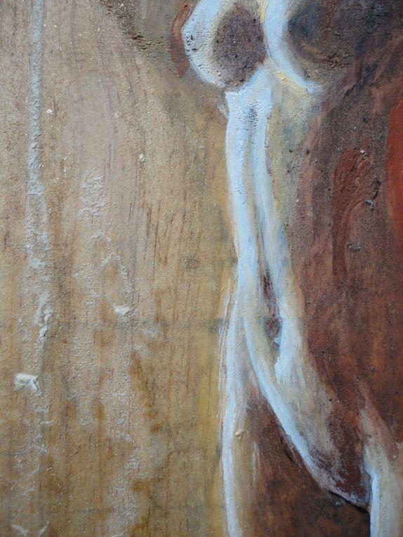 iDolls&#x3B; Déesses, nymphes ou simplement femmes, corps féminins peinture sur bois telles des icones, telles des iDollS.